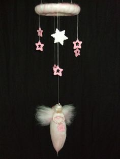 Mobile - Prinzessin der Sterne Mobile*Fee aus Märchenwolle - ein Designerstück von sommerli bei DaWanda