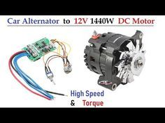 120 Amps Car Alternator converted to DC Motor ( 1500 Watt High Torque ) - with BLDC Controller Electric Motor For Car, Electric Car Conversion, Electric Bicycle, Electric Vehicle, Electric Power, Motor Generator, Diy Generator, Homemade Generator, Alternator Repair