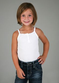Little girl bob haircut.