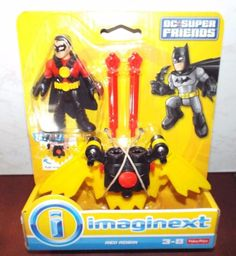 Imaginext DC SUPER FRIENDS RED ROBIN Figure Set New! #FisherPrice