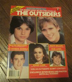 MAKES A GREAT GIFT Super Teen Special No6 The Outsiders 1982 Superteen Magazine 80s Pinups Mag