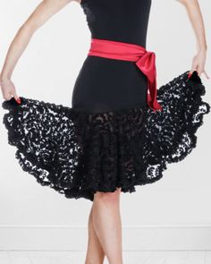New Latin Salsa Tango Cha Cha Ballroom Dance Dress Black Lace Skirt   eBay