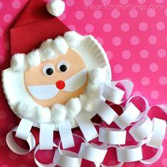 Christmas Countdown Crafts, Santa Crafts, Christmas Crafts For Kids To Make, Printable Christmas Cards, Christmas Games, Simple Christmas, Kids Christmas, Kid Crafts, Christmas Ornament