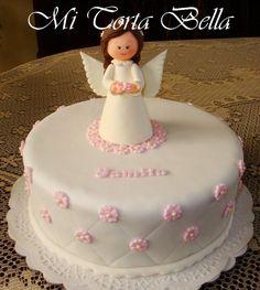 Resultado de imagen para torta de bautismo nena First Communion, Party Supplies, Appetizers, Lily, Birthday Cake, Baby Shower, Desserts, Food, Victoria
