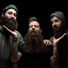 "beardcollective: ""#beardcollective @pound_clay, @redlionink, & @garrettsnyderhmph photo: @garrettsnyderhmph """