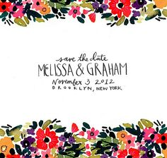 save the date ideas by melissa ebert