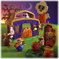 New Little People Pumpkin Party Halloween Playset Jack O Lantern Fisher Price Halloween Gifts, Spooky Halloween, Halloween Party, Halloween Ideas, Halloween Stuff, Toddler Toys, Kids Toys, Toddler Gifts, Halloween Sounds