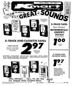Kmart 8 Track Tapes - March 1973