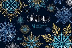 Snowflakes. Winter collection by OctopusArtis on @creativemarket