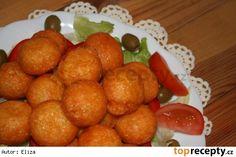 Smažené sýrové kuličky Pretzel Bites, Recipies, Food And Drink, Potatoes, Bread, Vegetables, Czech Food, Balls, Recipes