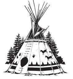 Drawings Of Teepees Native American Teepee Symbols Teepee Grouped Elements Vector Native American Drawing, Native American Teepee, Native American Tattoos, Native Tattoos, Native American Symbols, Native American Quotes, American Indian Art, Native American History, Native American Indians