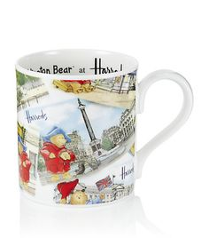 Harrods Postcard Paddington Bear Mug