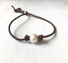 A personal favorite from my Etsy shop https://www.etsy.com/listing/558290951/pearl-leather-bracelet-freshwater-pearl