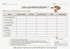 Endlich Pause?!: Lernwörterknickblätter - Grundwortschatz