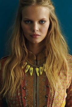 Perfect hair and make up for the romantic bride.    Marloes Horst for Anthropologie