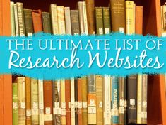 The Ultimate List of Research Websites from Muse of the Morning