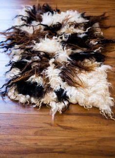 Parvana Creations -- raw fleece rug, made from Icelandic fleece (with roving base)