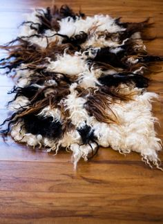 how to make a wool rug from raw fleece
