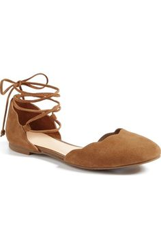 BP. Sophie Lace-Up Flat (Women) available at #Nordstrom