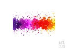 Watercolor Blot Abstract Art Print by barbaliss at Art.com