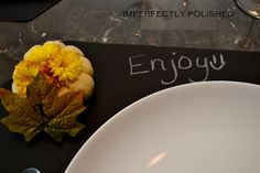 DIY chalkboard place mats- what a fun way to interact with your guests