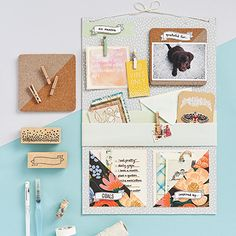 As we head into the school season, it's important to keep your dreams and goals top of mind. A great way to do this is by creating a DIY inspiration board! Craft Projects, Projects To Try, Craft Ideas, Diy Ideas, Addressing Wedding Invitations, Make Your Own Card, Fall Patterns, Paper Source, Homemade Crafts