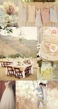 Spring is the perfect time for a rustic, outdoor wedding. #decor