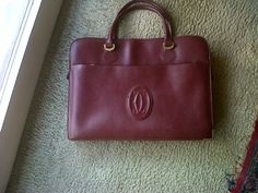 Very 70s Cartier handle bag in scarlet leather
