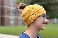 3 mL Messy Bun Beanie Free Crochet Pattern