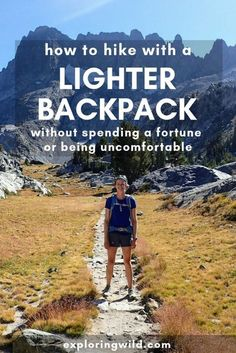 Lightweight Backpacking Tips for More Comfortable Miles You don't have to spend a ton of money and shiver all night to hike with a lighter pack. Here are ideas to save weight on your next backpacking trip and beyond. Ultralight Backpacking, Backpacking Tips, Hiking Tips, Hiking Gear, Hiking Backpack, Camp Gear, Backpacks For Hiking, Hiking Shoes, Backpacking Training