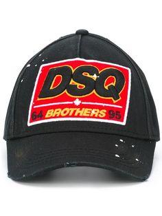 branded cap - Black Dsquared2 OLr4nU