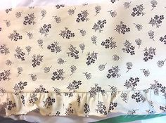 Brown Floral Ruffle Trim     6 3/4 inches wide     1 yard