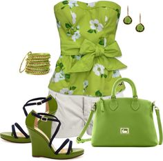 Lovely in green, created by johnna-cameron on Polyvore