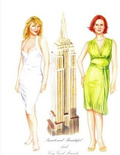 Sex and the City Paper Dolls Samantha and Miranda