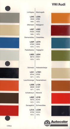 Paint Chips 1965 Volkswagen Beetle