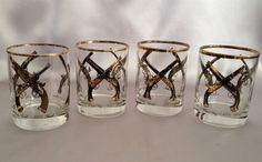 Bar Glasses Old Fashioned Antique Pistol Collection by annimae182
