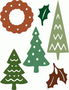 Silhouette Design Store - View Design #51309: holiday icons