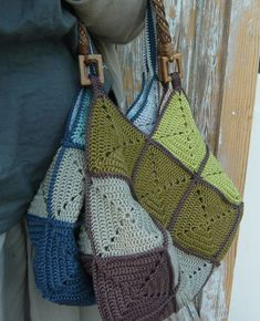 Granny square bag- one day