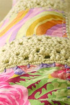 """Combination of crocheting and sewing. The blog calls it """"Crowing""""!!!!"""