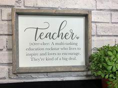 Teacher Signs Discover Teacher Definition Sign Teacher Gift Wooden Sign For Teacher Teacher Quote Desk Sign Classroom Decor Teacher Appreciation