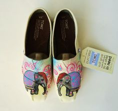 Indian Elephant TOMS by LamaLand on Etsy, $115.00.... So cute, want a pair!!