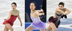 ソチ冬季五輪のフィギュアスケート女子ショートプログラムに向け、公式練習で調整する日本の(左から)鈴木明子、浅田真央、村上佳菜子=19日、ソチ(共同) (450×198) 「フィギュア浅田、3回転半成功 女子SP直前練習」 http://www.47news.jp/CN/201402/CN2014021901002130.html