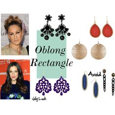 Earrings for oblong face shape by jolylook on Polyvore featuring By Malene Birger, Tità Bijoux, Barse, Danielle Stevens and Boohoo