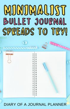 Bullet journaling is easy with these 50+ minimalist bullet journal ideas! #bulletjournal #bujo Bullet Journal Printables, Bullet Journal Spread, Minimalist, Mindfulness, How To Plan, Minimalism, Consciousness