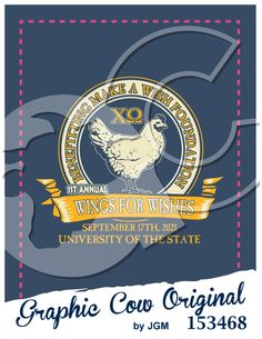 Wings for Wishes chicken food Chi Omega country #grafcow