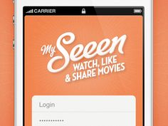 Dribbble - My Seeen • Screen 3 by Julien Poirier