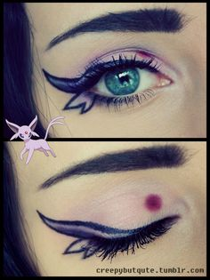 Espeon makeup!! It's so creative, I want to try this!! #pokemon #eeveelutions #makeup