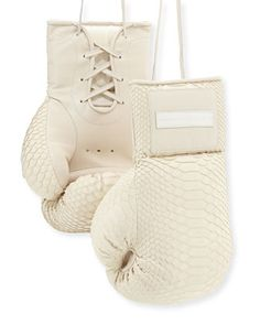 Python Boxing Gloves, Cream by Elisabeth Weinstock at Bergdorf Goodman.