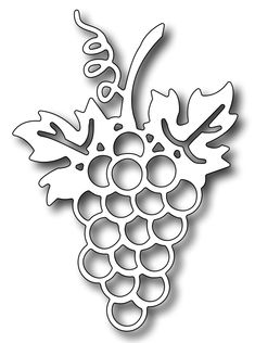 Size: wide x tall Pair this lovely grape bunch with a grapevine or a wine bottle and glass (c) Frantic Stamper IncDesigned by Kathy Berger for Frantic Sta Stencil Patterns, Stencil Designs, Paper Art, Paper Crafts, Frantic Stamper, 3d Quilling, Scroll Saw Patterns, Hand Embroidery Designs, Kirigami