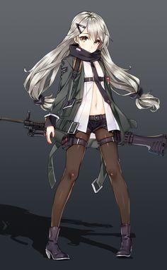 T-Doll. Cool Anime Girl, Beautiful Anime Girl, Anime Art Girl, Anime Girls, Neko, Manga Anime, Manga Girl, Anime Military, Military Girl